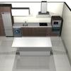 Instalar cocina con isla en espacio diáfano