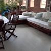 Tapiceria de un sofa de exterior