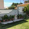 Obra en jardín: zanja y alicatado de piedra rústica