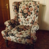 Tapizado y renovación de asiento de sillón orejero