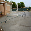 Cemento proyectado en patio