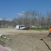 Obra de cimentación y trabajos exteriores para vivienda prefabricada