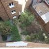 Poner terrazo y crear dos cuartos en zona ajardinada