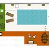 Solado perimetral de piscina