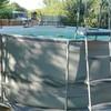Base de hormigon para piscina elevada