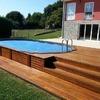 Proyecto piscina elevada sin obra y con estructura de madera o similiar