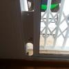 Tabla estrecha blanca en puerta corredera salida terraza