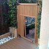 Cambio puerta jardin pvc