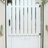 Hacer portilla de aluminio de acceso a jardin