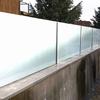 Barandilla de cristal con soporte