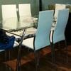 Retapizar 6 sillas de comedor con piel real blanca