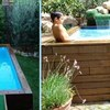Construir piscina elevada en el patio