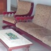 Tapizar sofa madera vista (cojines sueltos: asiento/respaldar)