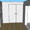 Instalar doble puerta corredera empotrada