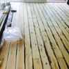 Lijado y barnizado   24 m2 suelo pino a color wenge