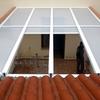 Poner techo con placas de policarbonato celular translucido