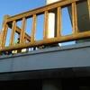 Barandilla para terraza imitando madera
