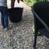 Sacar piedra jardín