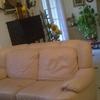 Tapizado sofa piel 3 plazas (solo zona asiento) y cambiar o reforzar relleno